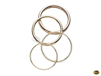 Selection of gold bangles, solid or hollow available