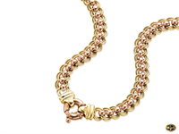 Roller ball chain available in yellow, white, rose gold or multi tone