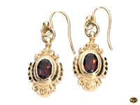 Fancy garnet drop earrings