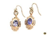 Fancy amethyst drop earrings