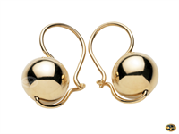Ball drop earrings available in yellow, rose and white gold