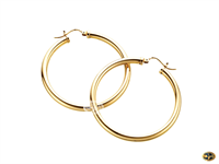 Hoop earrings available in yellow rose or white gold