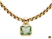 Green amethyst-set enhancer