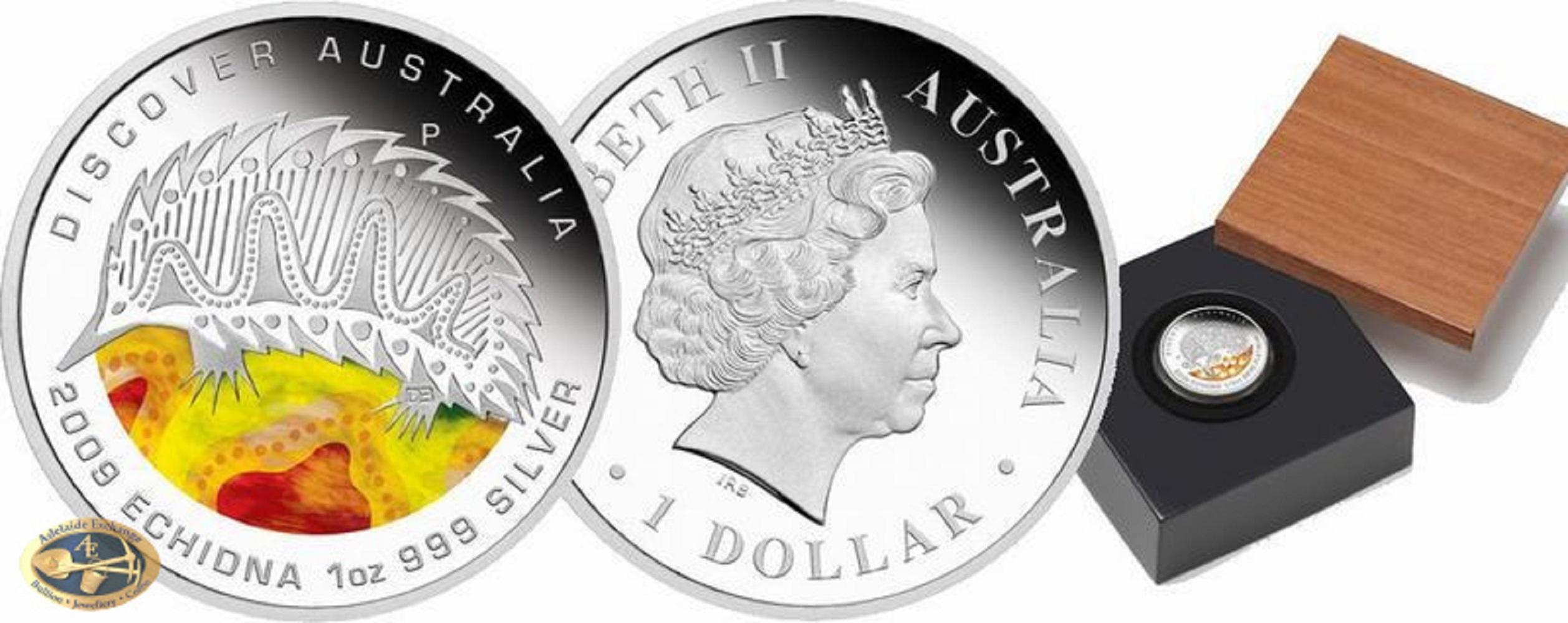 2009 1oz Fine Silver Proof Coin Discover Australia The