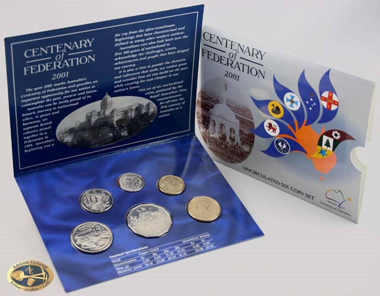 2001 Uncirculated Coin Set Adelaide Exchange