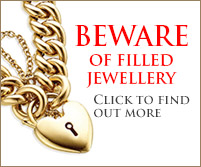 beware filled jewellery
