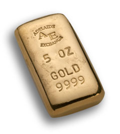 A gold bar from our gold buyers in Adelaide